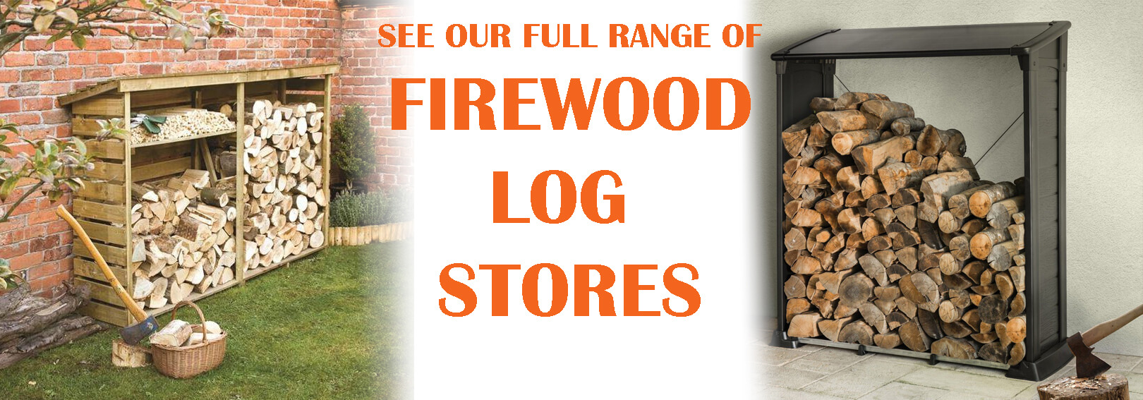 Use one of our attractive log stores to keep your firewood dry and ventilated outside in your garden