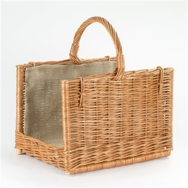 Country Style Wicker Log Basket