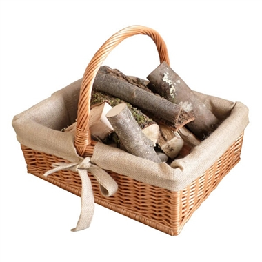Traditional Style Wicker Log Basket