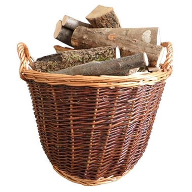 Premium Round Wicker Log Basket