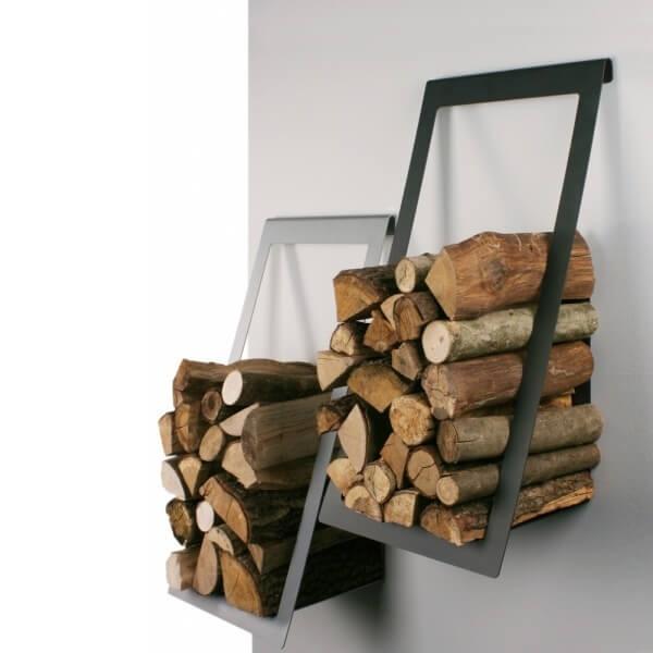 Buy Wall Mounted Log Basket Holder Stylish And Modern
