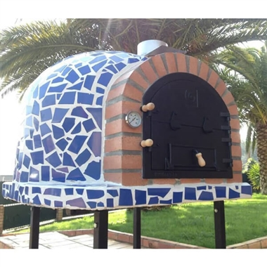 Blue Mosaic Outdoor Wood Fired Oven