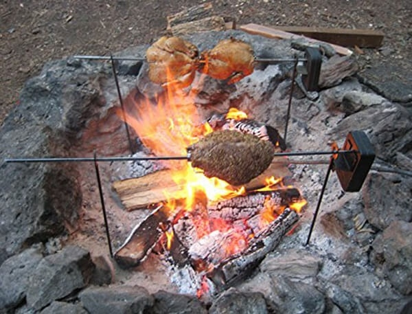 Grizzly Spit Rotisserie Fire Pit Rotisserie Fire Pit