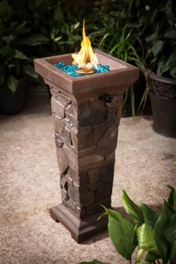 Cobblestone Upright Gas Fire Pit and Patio Fire