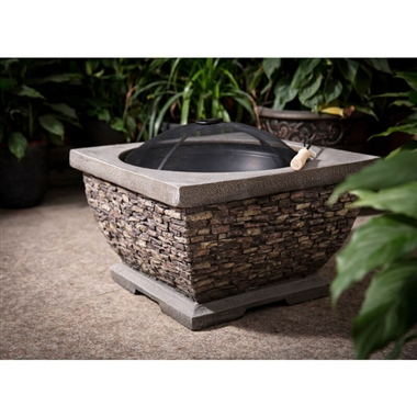 Premium Stone Fire Pit and Wood Burning Patio Fire