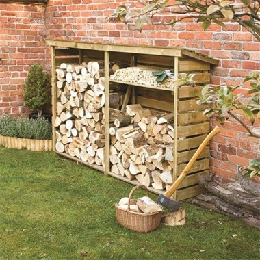 Double Firewood Log Store