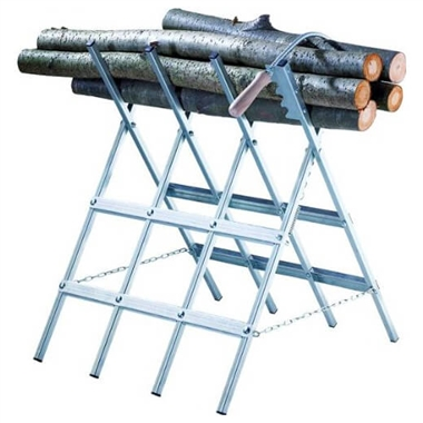 Log Sawhorse and Clamp for Firewood
