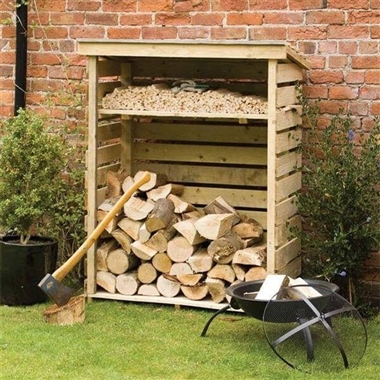 Small Firewood Log Store