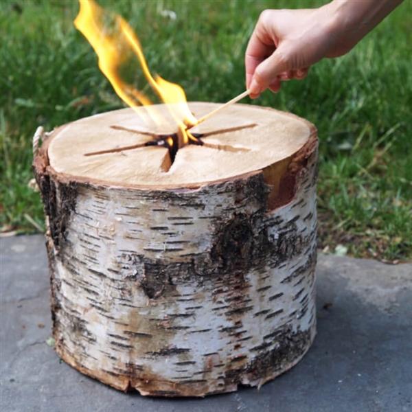 Swedish torch eco firewood fire log